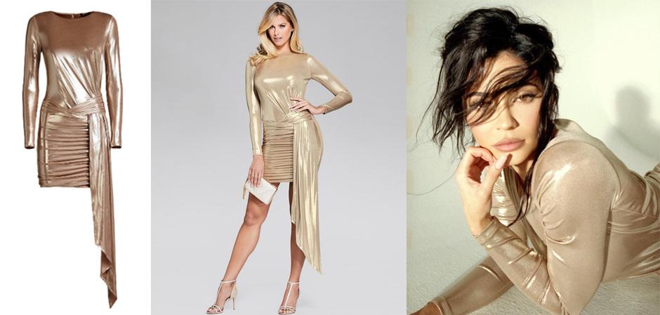 Золотое платье Guess Marciano