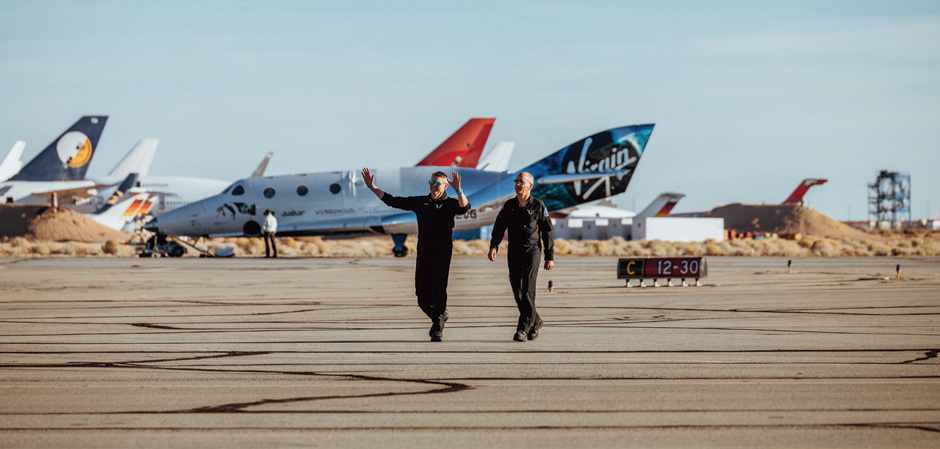Два первых астронавта Virgin Galactic
