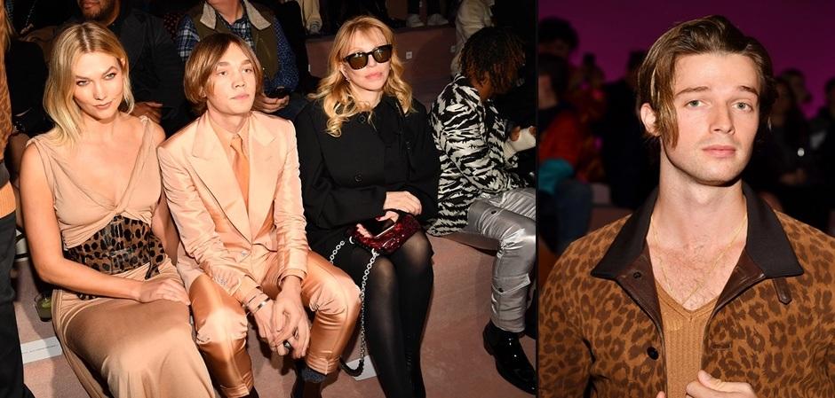 Карли Клосс, Чарли Пламмер, Кортни Лав и Патрик Шварценеггер на показах Недели моды в Нью-Йорке