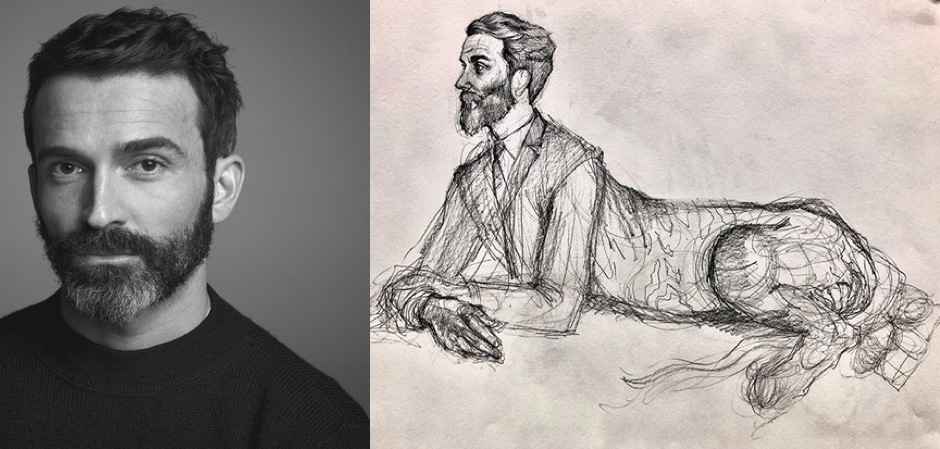 Дэниел Розберри и его автопортрет карандашом