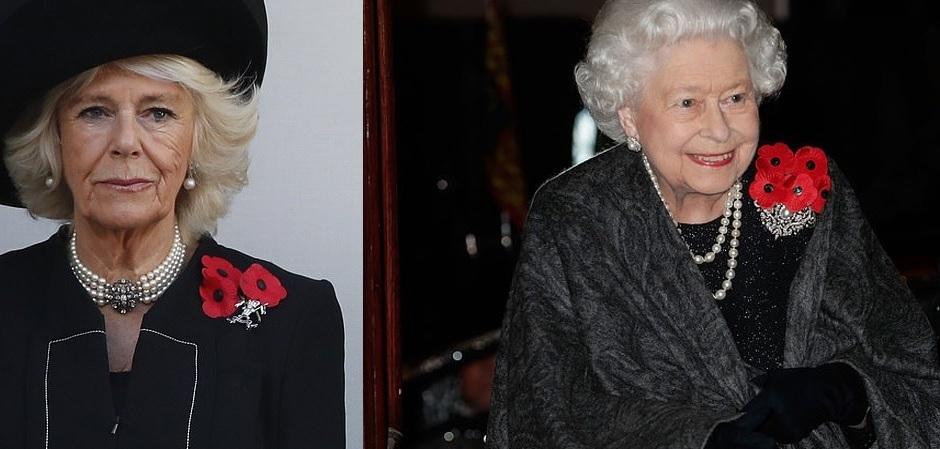 Королева Елизавета и Камилла