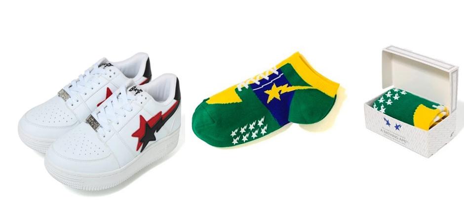 Японский король streetwear BAPE выпустил носки в виде кроссовок  BAPE STA