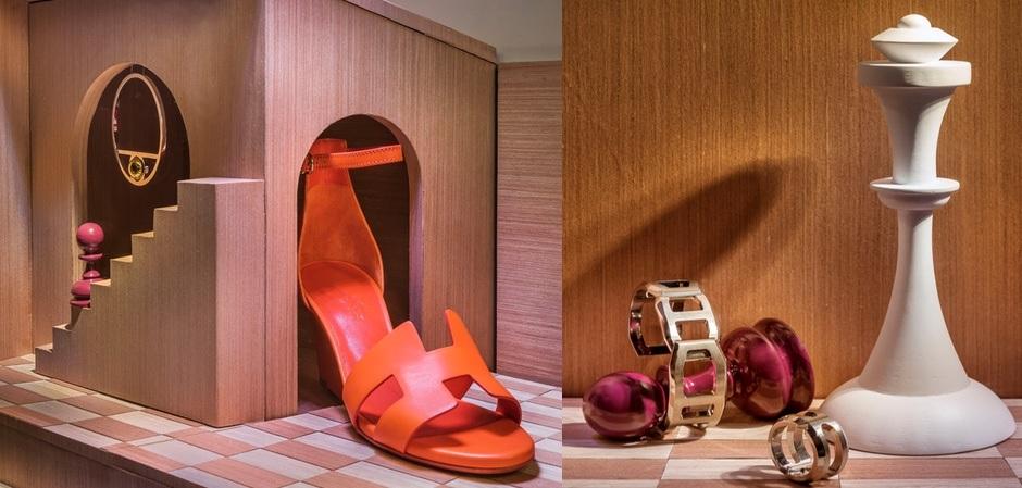 Новогодние инсталляции Hermès в Сингапуре