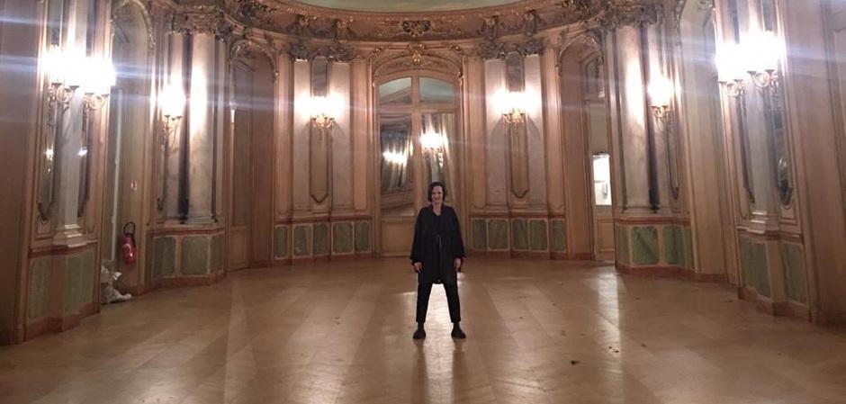 Светлана Тегин (бренд Tegin) в парижском шоу-руме Moredash