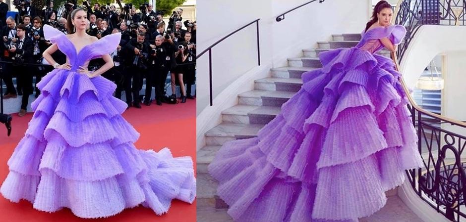 Платье дня создал Майкл Синко, а показалась в нем Шририта Дженсен