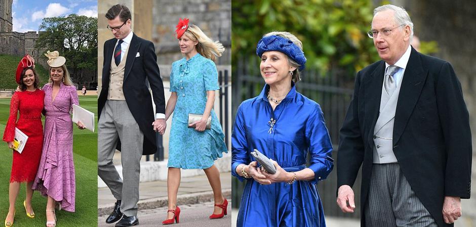 Члены королевской семьи и гости свадьбы леди Габриеллы