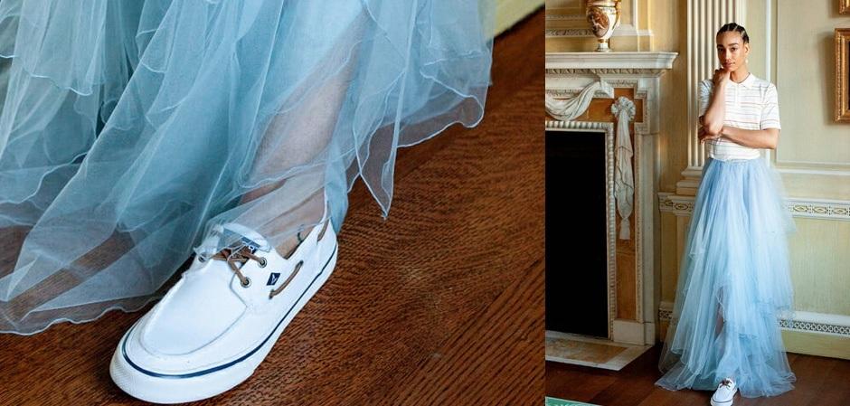 Выглядеть интересно и стильно поможет сочетание разных стилей в одном образе.  Ralph Lauren