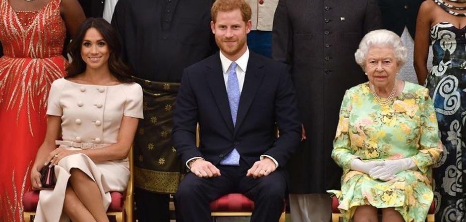 Меган Маркл, принц Гарри, королева Елизавета