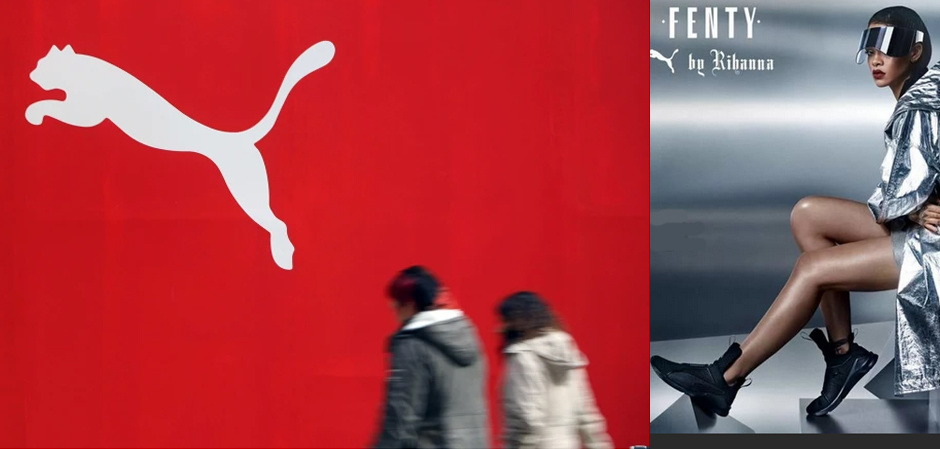 Puma резко увеличила свои продажи в этом году, в том числе благодаря сотрудничеству с Рианной