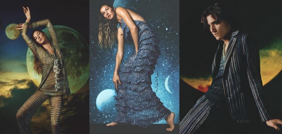 Реклама Missoni с певцом Фуадом и топ-моделью Жизель Бюндхен