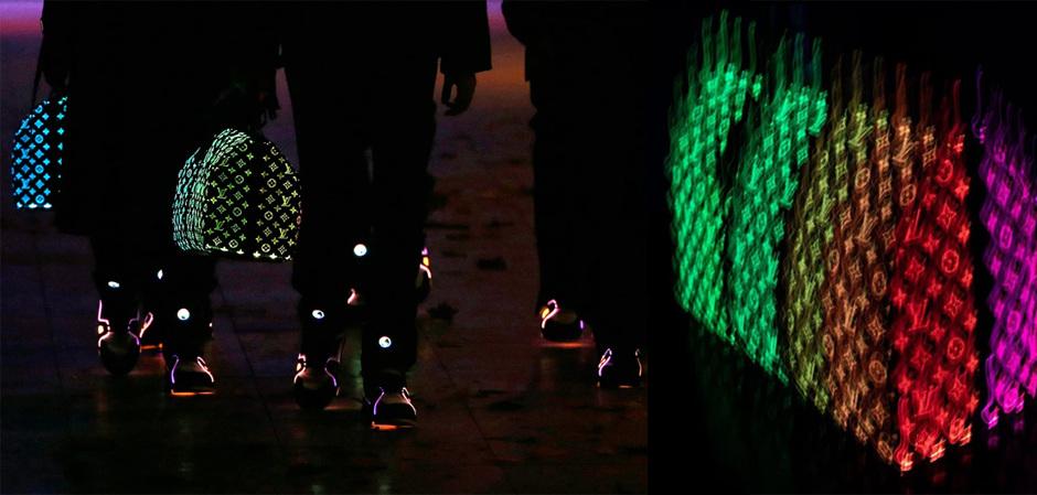 коллекция Дома Louis Vuitton дизайнера Вирджила Абло с использованием оптического волокна