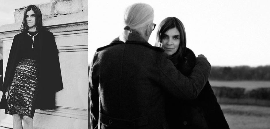 Карин Ройтфельд и Карл Лагерфельд, друзья и соратники в мире моды