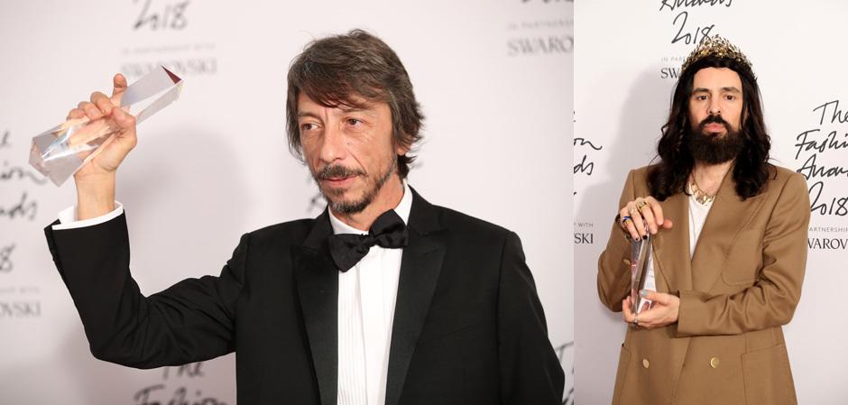 Дизайнер года - Пьерпаоло Пиччьоли; Алессандро Микеле получил награду лучшего бренда