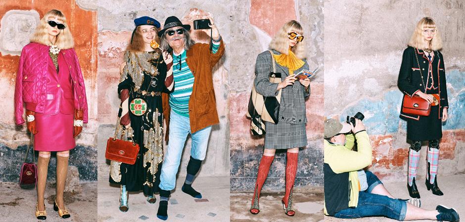 Gucci снял новую коллекцию в городе Помпеи