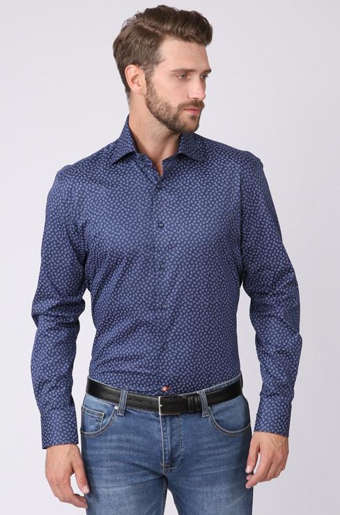 68d39975b4ff079 Приталенная рубашка из хлопка KANZLER 238928 купить оптом / Модный ...
