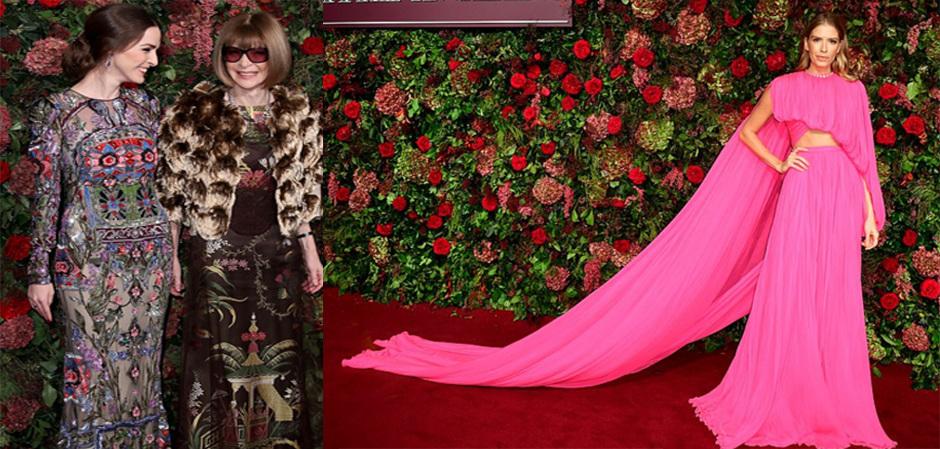 Анна Винтур из американского Vogue с дочерью и российская модель Елена Перминова