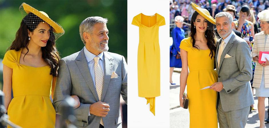 Амаль Клуни в платье от Стеллы Маккартни на королевской свадьбе Меган и принца Гарри