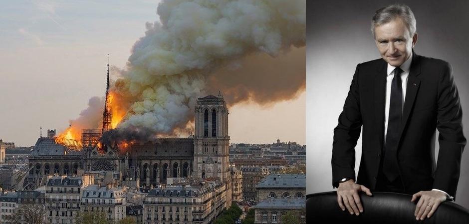 Бернар Арно пожертвует 200 миллионов евро на восстановление Собора Парижской Богоматери