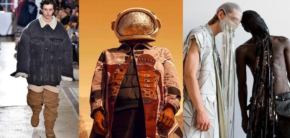 Ботфорты угги, космическая тема и маски на лицо