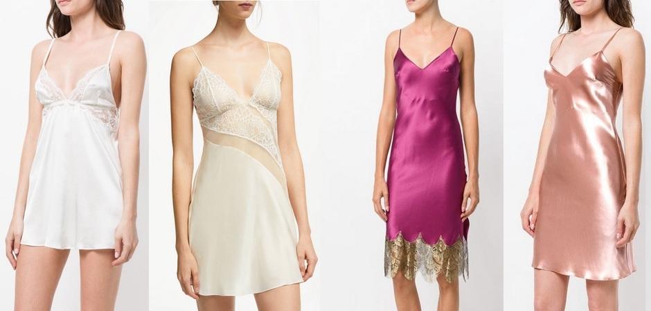 Комбинации под платье из шелка или хлопка, а не ночные рубашки найти в российском магазине сегодня не так-то просто