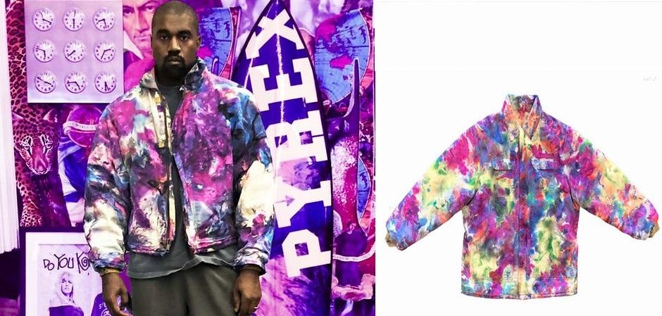 Винтажные куртки от Carhartt  в стиле tie dye  чрезвычайно популярны, не устоял и Kanye West