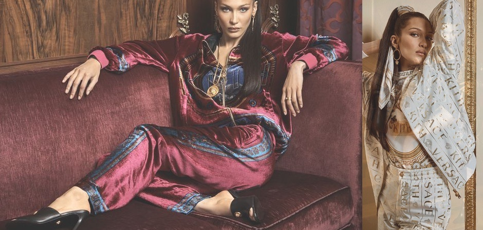 Белла Хадид для Kith x Versace