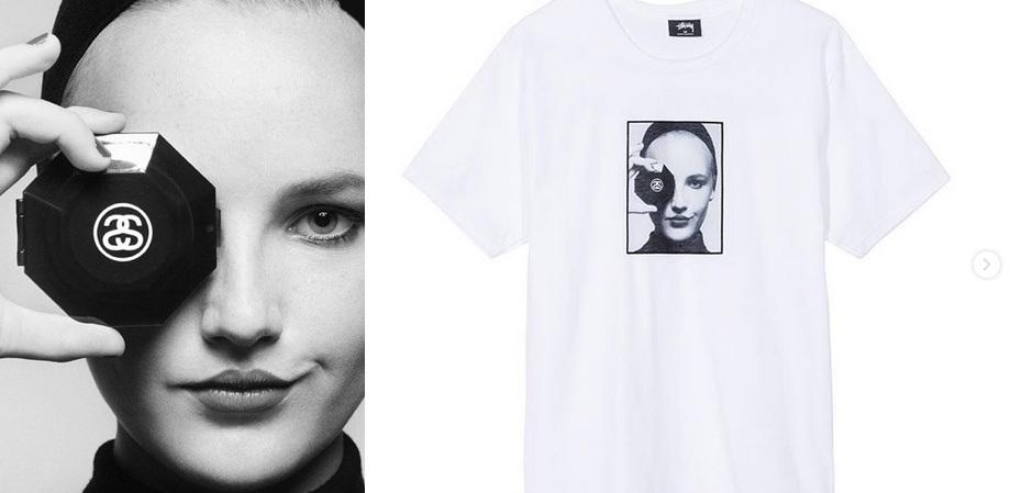 Бренд Stüssy выпустил футболку памяти Карла Лагерфельда
