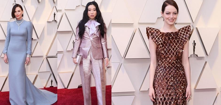 Шарлиз Терон, Аквафина и Эмма Стоун на вручении премии Оскар