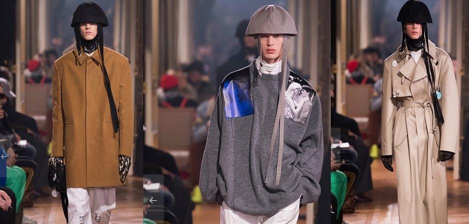 Paris Fashion week men Fall/Winter 20019/20,  коллекция RAF SIMONS (Раф Симонс)
