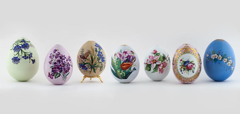 70 императорских пасхальных фарфоровых яиц XIX – начала ХХ века
