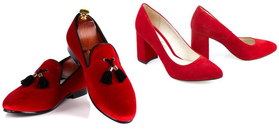 Красная обувь